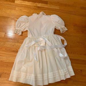 White dress, flower girl or communion